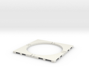 T-65-wagon-turntable-84d-100-corners-flat-1a in White Strong & Flexible