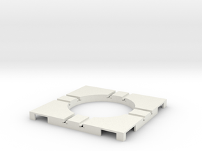 T-9-wagon-turntable-36d-100-corners-flat-1a in White Strong & Flexible