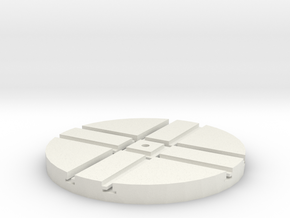 T-9-wagon-turntable-48d-100-1a in White Natural Versatile Plastic