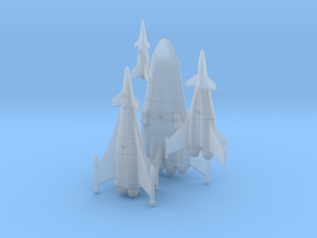 Earth War Rocket Fleet in Smooth Fine Detail Plastic