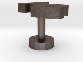 Cufflinks Ab in Polished Bronzed Silver Steel