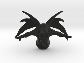 Alien beast - Sculptre in Black Natural Versatile Plastic