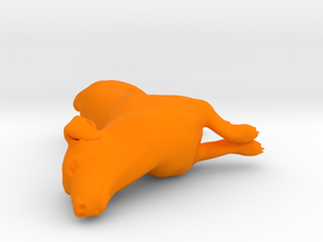 Laying Jack Russell Terrier 3 in Orange Processed Versatile Plastic