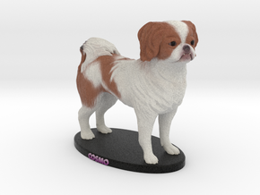 Custom Dog Figurine - Cosmo in Full Color Sandstone