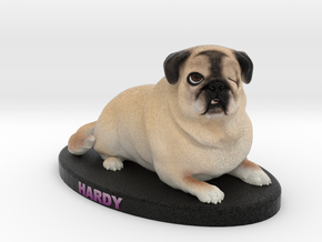 Custom Dog Figurine - Hardy in Full Color Sandstone