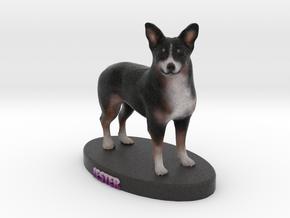 Custom Dog Figurine - Jester Vrml Frommax in Full Color Sandstone