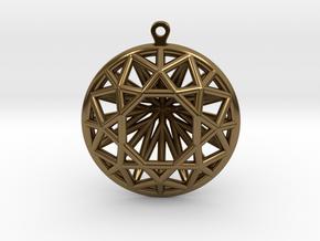 3D Printed Diamond Circle Cut Earrings in Polished Bronze