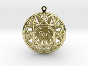 3D Printed Diamond Circle Cut Earrings in 18k Gold Plated Brass