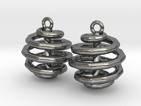 Ring-in-a-Ball-02-EarRing in Fine Detail Polished Silver