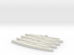USS Gudgeon (WSF) (Tambor class) 1/1800 x4  in White Natural Versatile Plastic
