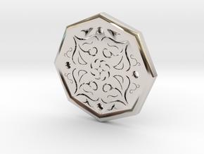 Octagon Rune Amulet in Platinum