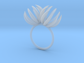 Double Bloom Ring size P1/2 in Smooth Fine Detail Plastic