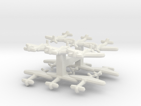 P-39 Airacobra (triplet) 1/900 x4 in White Natural Versatile Plastic