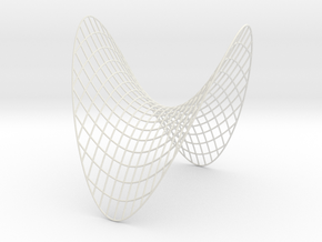 Saddle -- XY curves (8 in) in White Natural Versatile Plastic