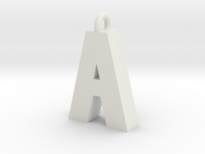 Alphabet (A) in White Natural Versatile Plastic