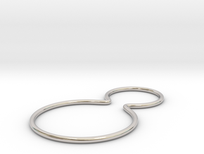 Double joined band ring in Rhodium Plated Brass