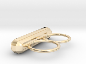ALLURE double finger ring in 14k Gold Plated Brass