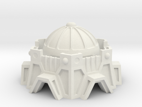 Sci-Fi Fort / Temple in White Natural Versatile Plastic