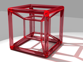 hypercube variatio in Red Strong & Flexible Polished