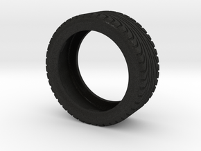 Caterham Tire Frt Rt x1 (1-12) Black Acrylic in Black Acrylic
