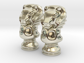 Pair Lion Chess Big / Timur Asad Piece in 14k White Gold