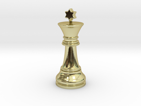 Single Chess King Star Big | Timur Prince Vizir in 18k Gold Plated Brass