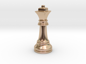 Single Chess Queen Big Square | Timur Ferz in 14k Rose Gold Plated Brass