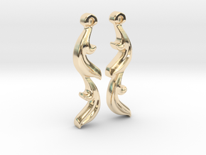 Leaf Earring in 14k Gold Plated Brass
