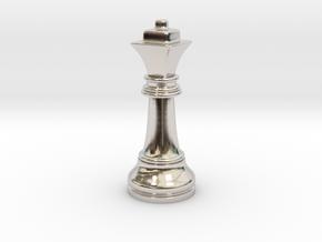 Single Chess Queen Big Square | Timur Ferz in Platinum