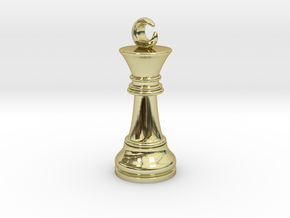 Single Chess King Moon Big / Timur Prince Ferz Viz in 18k Gold Plated Brass