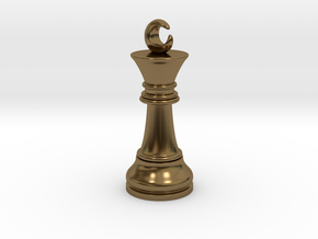Single Chess King Moon Big / Timur Prince Ferz Viz in Polished Bronze