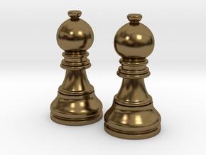 Pair Bishop Chess Big | Timur Picket Taliah in Polished Bronze