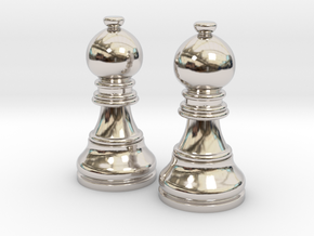 Pair Bishop Chess Big | Timur Picket Taliah in Rhodium Plated Brass