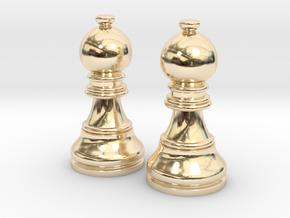 Pair Bishop Chess Big | Timur Picket Taliah in 14K Yellow Gold