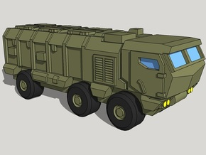 3mm Kamaz Typhoon (20 Pcs) in Smooth Fine Detail Plastic