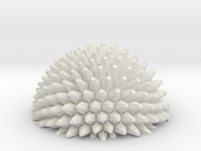 Ball bump hemisphere - fractals in White Natural Versatile Plastic