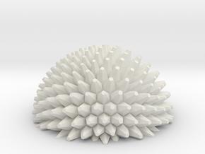 Ball bump hemisphere - fractals in White Natural Versatile Plastic
