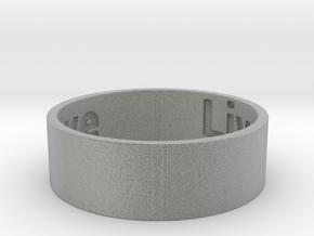 Live Laugh Love Ring Size 9 in Metallic Plastic