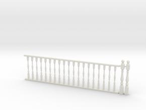 Railing w/ Balustrade 1:48 in White Strong & Flexible