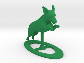 Jumping Up Jack Russell Terrier 1 in Green Processed Versatile Plastic