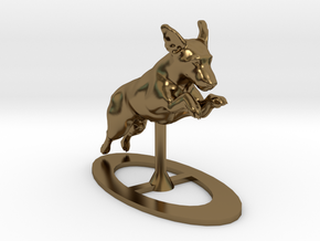 Jumping Up Jack Russell Terrier 1 in Polished Bronze