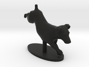 Jumping Up Jack Russell Terrier 2 in Black Natural Versatile Plastic
