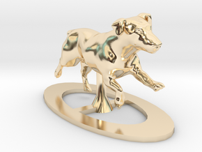 Running Jack Russell 1 in 14K Yellow Gold