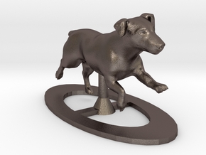 Running Jack Russell 1 in Polished Bronzed Silver Steel