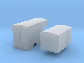 N-scale '30s Box Van Bodies in Frosted Extreme Detail
