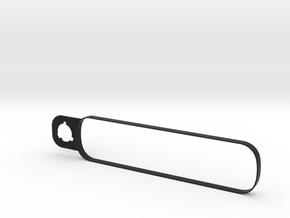 4eyesLensBracket-Collar-ForLens-Straight in Black Natural Versatile Plastic