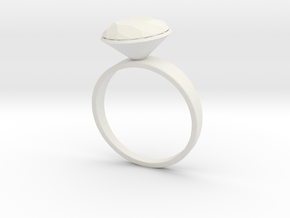 Ring in White Natural Versatile Plastic
