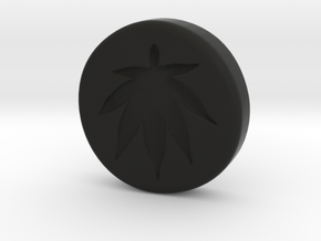 $10 Hash Coin in Black Natural Versatile Plastic