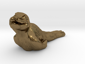 Baby Seal in Polished Bronze