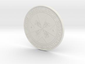 St John Logo in White Natural Versatile Plastic